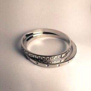 Silver Coach Fashion Bangle Bracelets